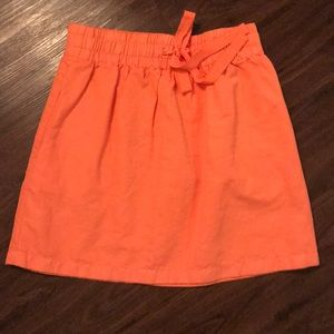 J Crew bright orange skirt